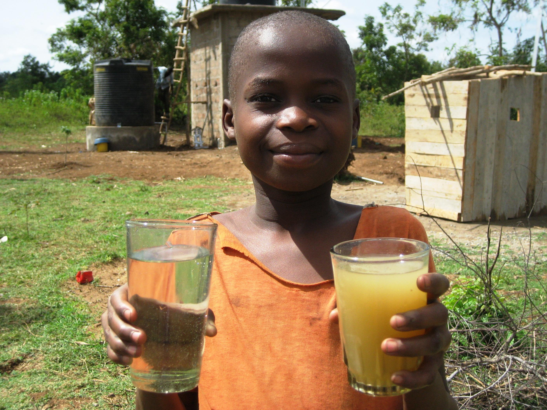 Nein, kein Orangensaft - Dies war vorher das Trinkwasser