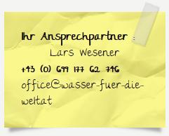 Ansprechpartner Wasser für die Welt Lars Wesener