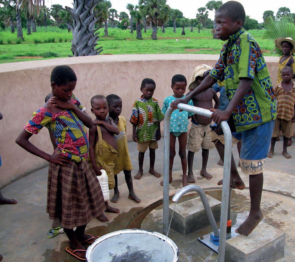 die Lösung- Brunnen liefern sauberes Wasser